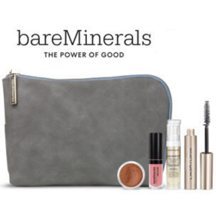 Free bareMinerals Minis and a Makeup Bag with Purchase!