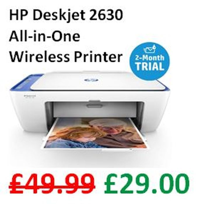 CHEAP! HP Deskjet 2630 All-in-One Printer Instant Ink with 2 Months Trial