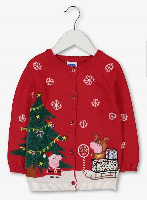 Christmas Peppa Pig Red Cardigan - 135861078