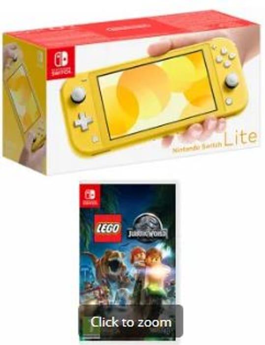 Nintendo Switch Lite Yellow with Lego Jurassic World