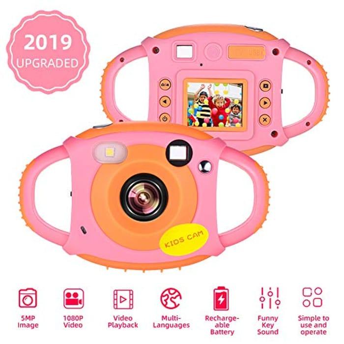DEAL STACK - 70% + 10% Kids Camera Childrens Camera 1080P HD 5MP