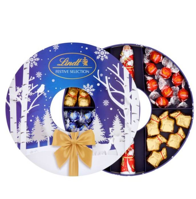 Lindt Festive Selection 400g Now Half Price 750 At Tesco