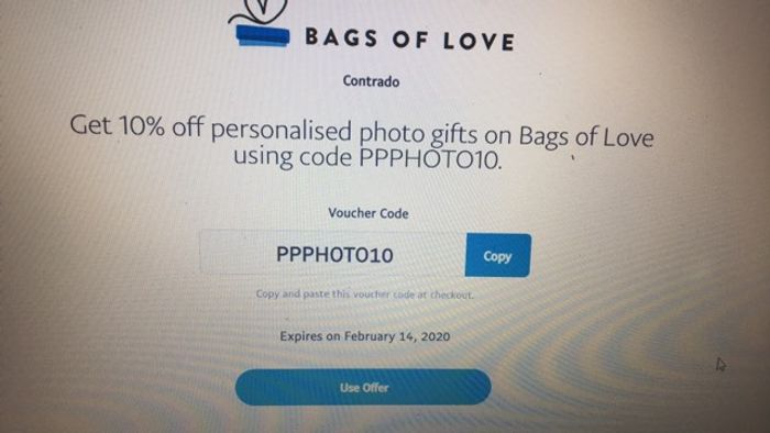 Get 10% off Personalised Photo Gifts on Bags of Love