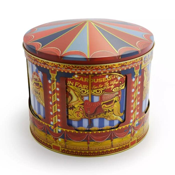 Debenhams - Rotating Musical Carousel Biscuit Tin 450G