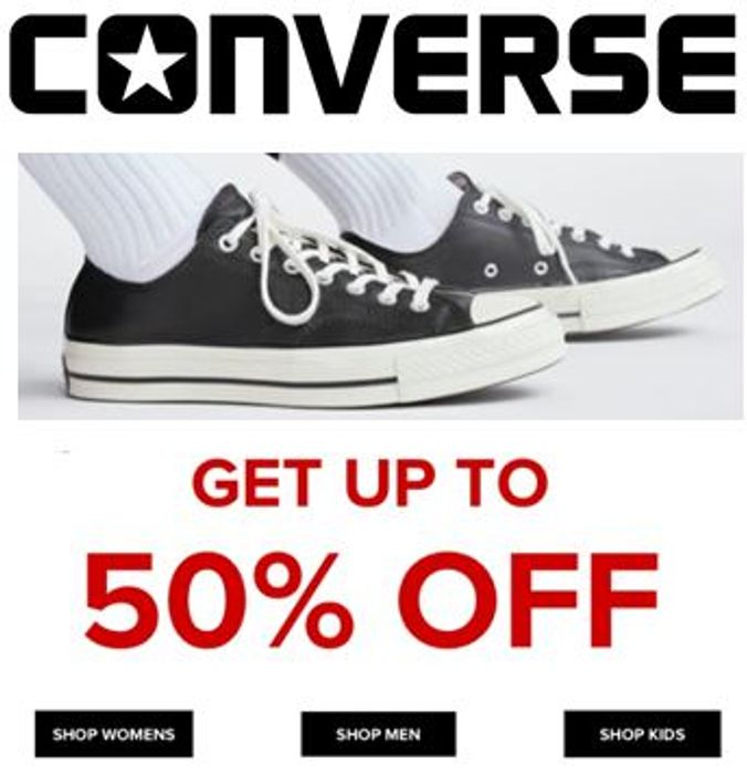 Best Price! CONVERSE Trainers January Sale - up to 50% off Womens, Mens & Kids
