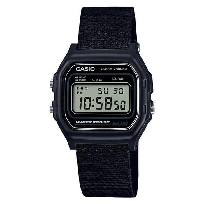 Casio Men's Black Canvas Strap Digital Chronogrpah Watch