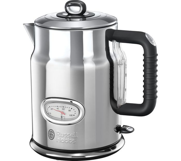 Cheap RUSSELL HOBBS Retro 21675 Jug Kettle - Silver, reduced by £40!
