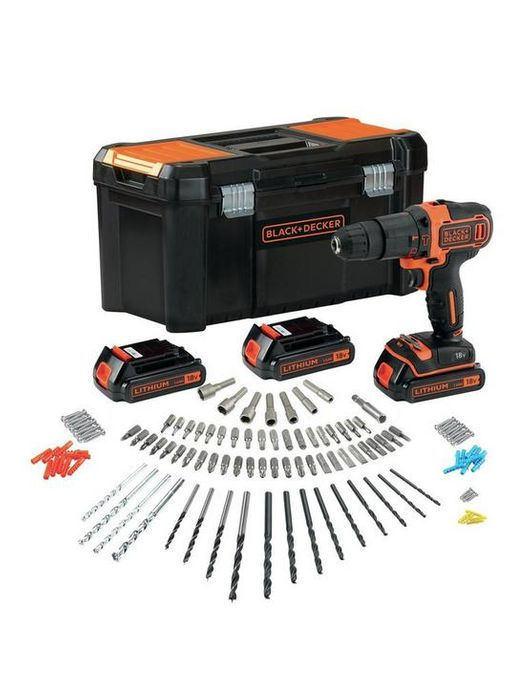 *SAVE £50* Black & Decker 18V Combi Hammer Drill and 3 Batteries