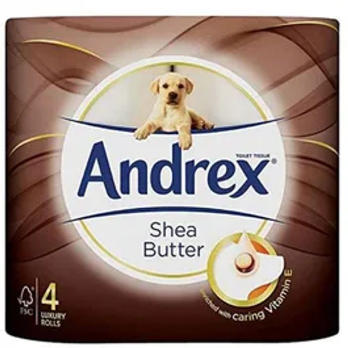 Andrex Toilet Roll Touch of Care Shea Butter 4 Pack ( Min Spend £25)