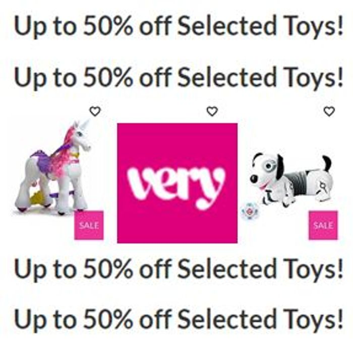 Special Offer - VERY TOY SALE - up to 50% Selected Toys