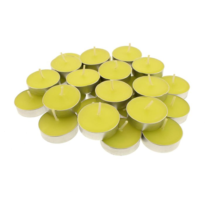 Pack of 30 Lime and Basil Tealights