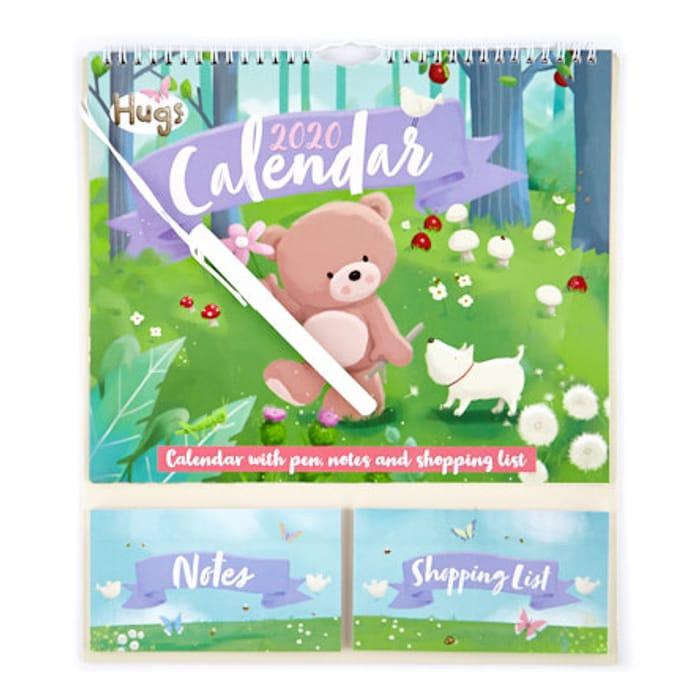 Hugs Bear 2020 Calendar & Organiser with Pen save £1