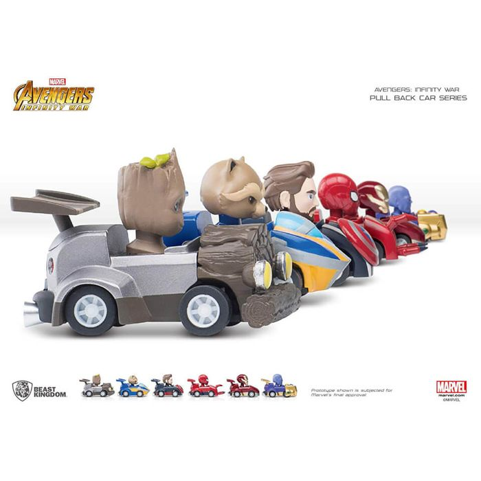 Cheap Beast Kingdom Marvel Avengers Pen with Pull Back Car Set, Only £12.99!