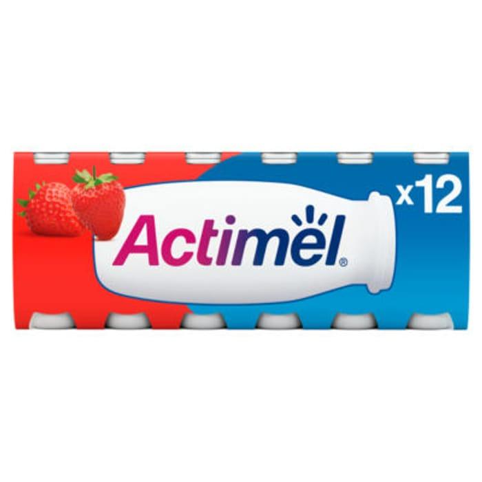 Actimel Strawberry Yoghurt Drinks