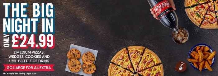 London West Ealing: 50% off Orders over £30 at Domino's Pizza