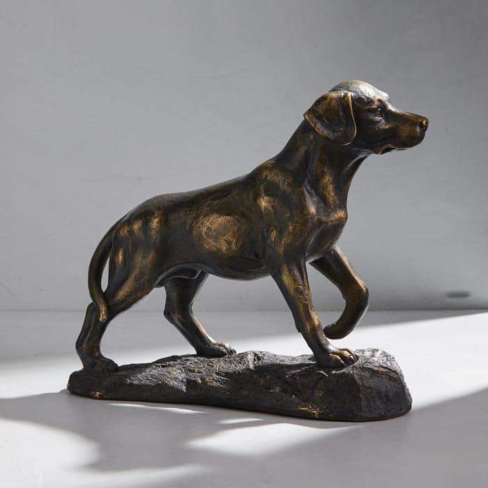*HALF PRICE* Dorma Labrador Distressed Bronze Finish Ornament