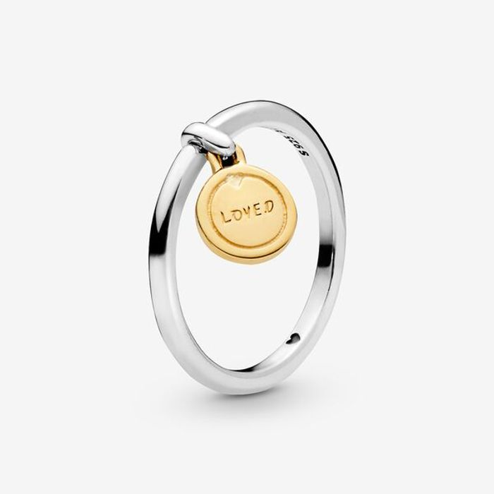 Cheap Pandora Loved Script Medallion Ring, reduced by £30!