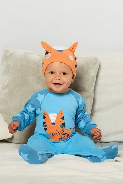 Baby 2-Piece Tiger Sleep-Suit with Hat Set