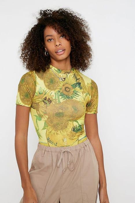 UO Van Gogh Sunflowers Baby T-Shirt