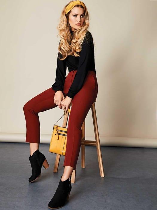 Cheap Womens Rust Tapered Split Hem Trousers - Save £6