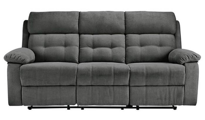Argos Home June 3 Seater Fabric Recliner Sofa - Charcoal Only £301.49
