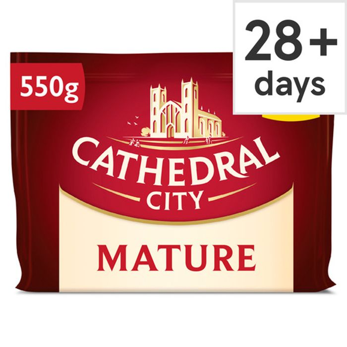 Cathedral City Mature, Extra Mature and Mild Cheddar Cheese 550G - HALF PRICE!