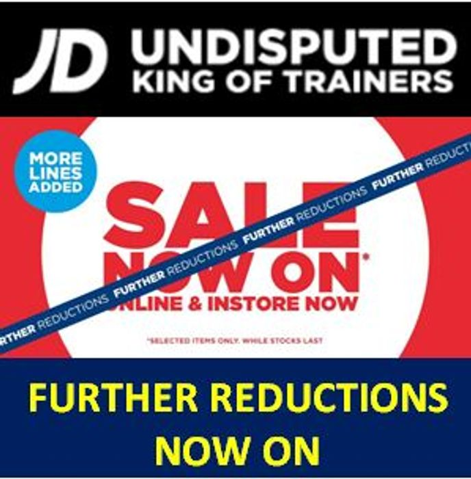 On Sale JD Sports Biggest Ever FURTHER REDUCTIONS -Nike, adidas, Under Armour