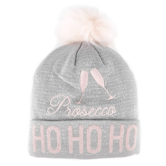 Knitted Christmas Hat - Prosecco