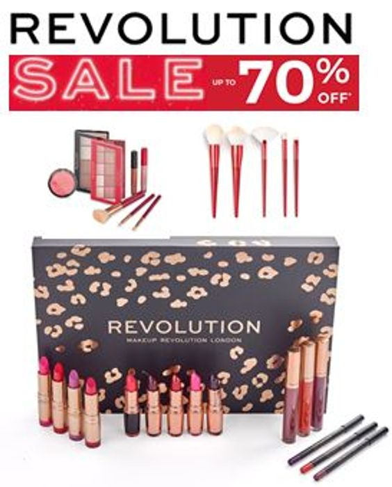 REVOLUTION BEAUTY Deal - JANUARY SALE - up to 70% OFF