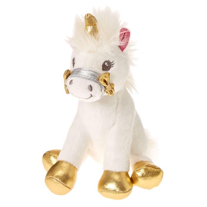 Claire's Club Small Ariella the Unicorn Soft Toy - White