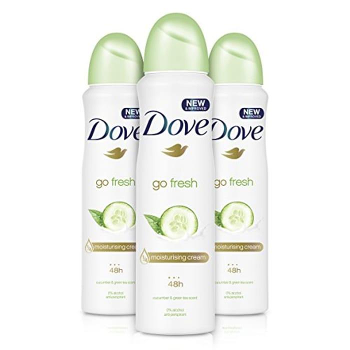Dove Go Fresh Cucumber Deodorant 150ml - Pack of 3 - £2.99