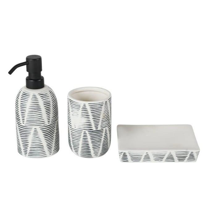 Argos Home Reactive Glaze Bathroom Accessory Set