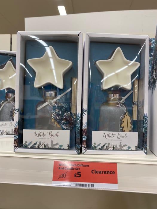 Winter Birch Diffuser & Candle Set - Half Price