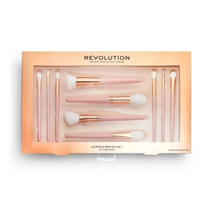 Revolution 10 Piece Brush Set...Vegan and Cruelty Free