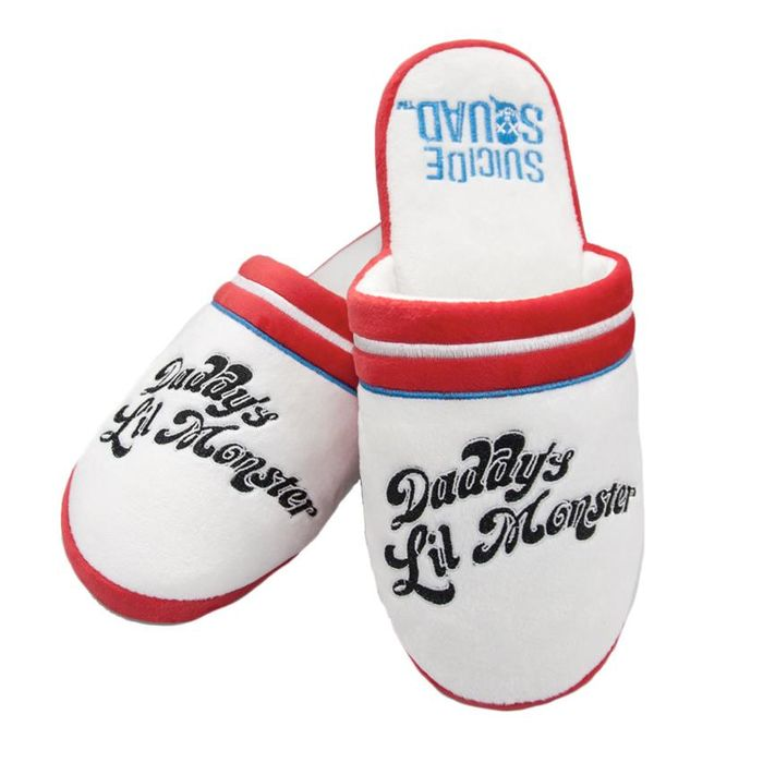 Official Suicide Squad Harley Quinn 'Daddy's Lil Monster' Slippers