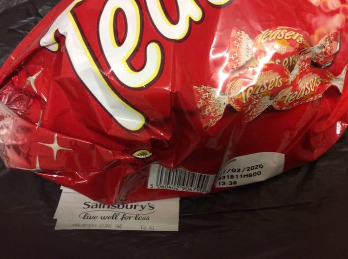 Maltesers Teasers Giant Sweet with Mini Teasers (373g) £2.40 Sainsburys