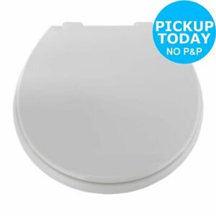 Cheap Argos Home Thermoplastic Slow Close Toilet Seat (White) - Save £5!