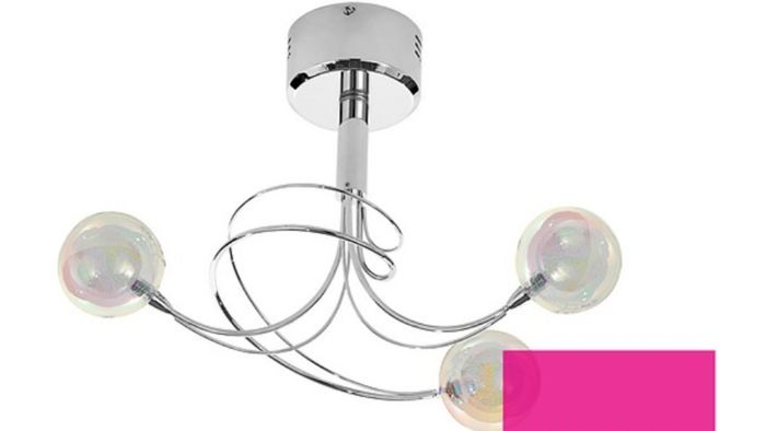 Swirl 3 Light Ceiling Fixture Down From £49.99 to £25