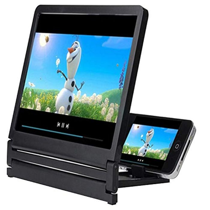 Biuday 3D Enlarge Mobile Phone Screen Magnifier Stand