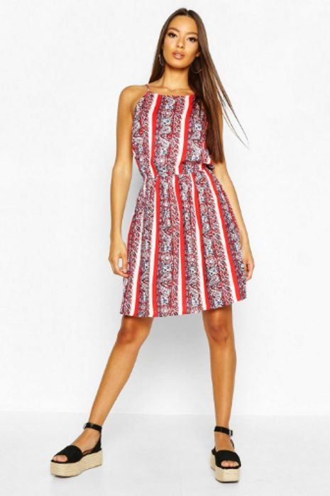 Patterned Summer Dress at boohoo on Sale From £12 to £3