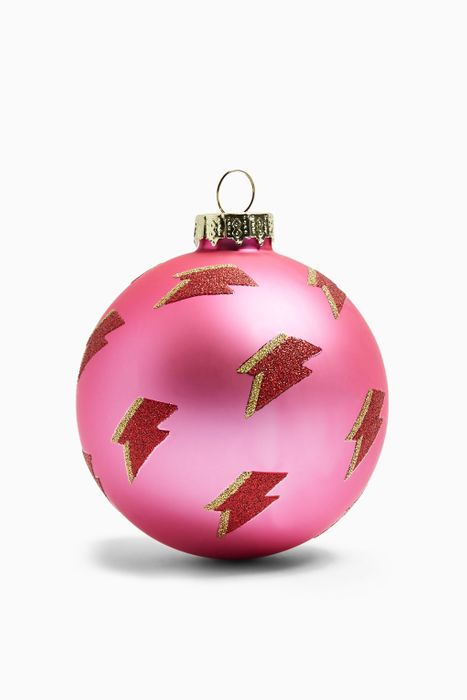 Pink Girl Power Bolt Christmas Bauble Was £5.00 Now £1.00