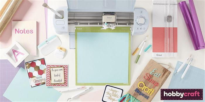 Free January Cricut One-to-One Workshops at Hobbycraft