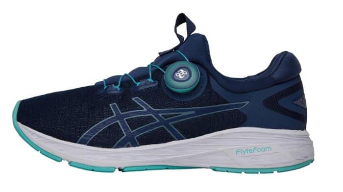 Best Price! Asics Womens Dynamis Stability Running Shoes Dark Blue/White