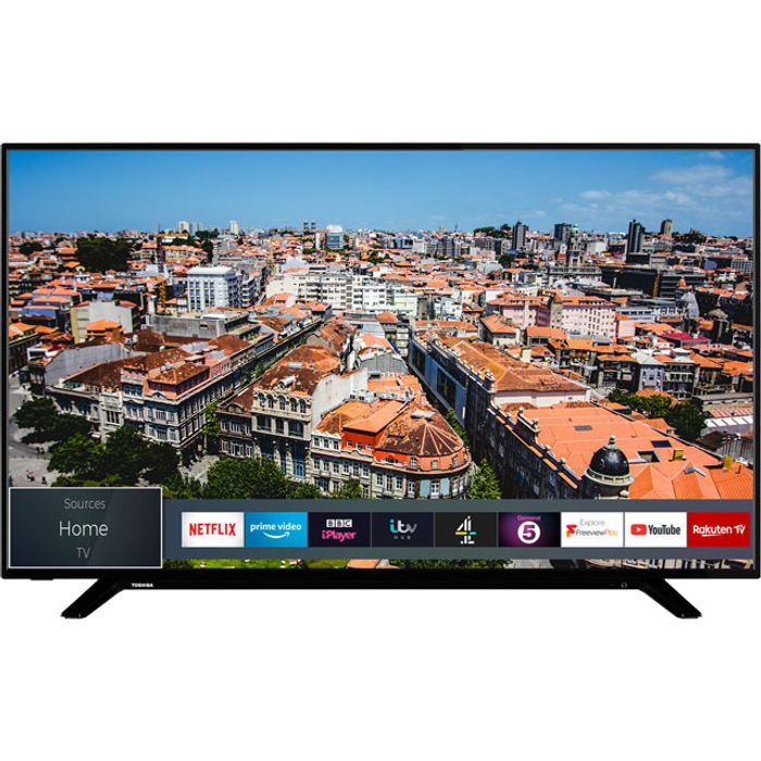 """Cheap Toshiba 58"""" Smart 4K Ultra HD TV with HDR10 and Dolby Vision, Only £369!"""