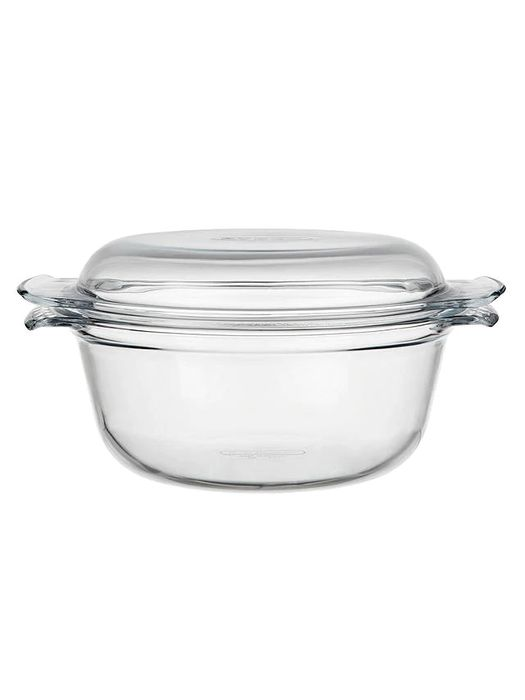 Pyrex Easy Grip Glass round Casserole Oven Dish, 3.5L