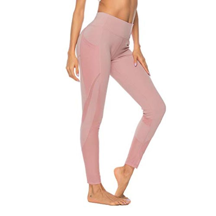Yoga Pants Laides High Waist with Cell Phone Pockets Tummy Control
