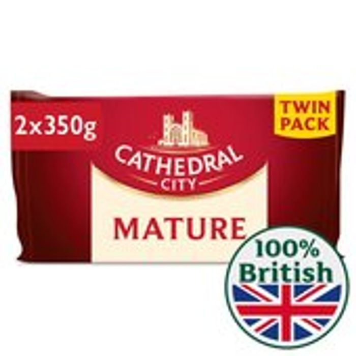 Cheap Cathedral City Mature Cheese Twin Pack, Only £4.5!