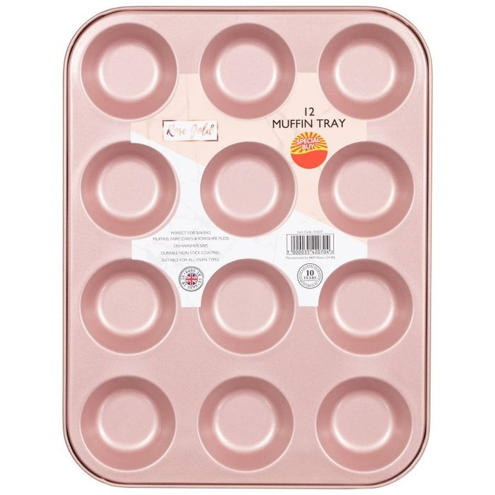 Cheap Muffin Tin 12pc - Rose Gold Only £2.5!