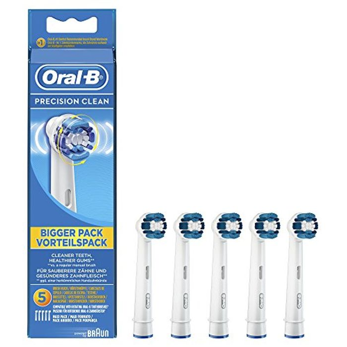 Best Price! Braun Oral-B Precision Clean Toothbrush Heads X 5