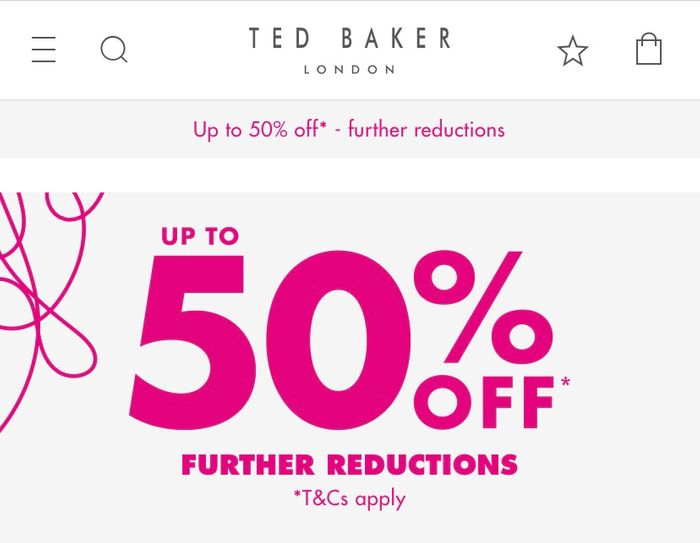 Special Offer - Up to 50% off on Ted Baker
